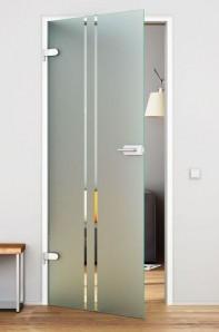 UVSST Glastür mit Beschlag Levidor