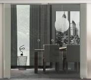 DO2K zweiflügelige Glasschiebetür Levidor