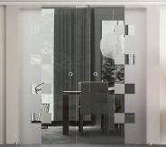 DO2W zweiflügelige Glasschiebetür Levidor